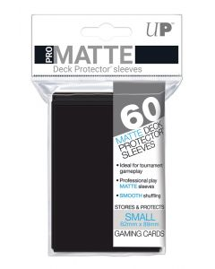 UP - Deck Protector Sleeves - PRO-Matte - Small Size (60) - Black