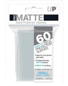 UP - Deck Protector Sleeves - PRO-Matte - Small Size (60) - Clear