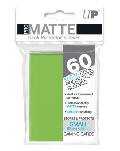 UP - Deck Protector Sleeves - PRO-Matte - Small Size (60) - Lime Green