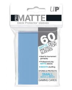 UP - Deck Protector Sleeves - PRO-Matte - Small Size (60) - Light Blue