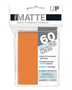 UP - Deck Protector Sleeves - PRO-Matte - Small Size (60) - Orange