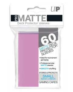 UP - Deck Protector Sleeves - PRO-Matte - Small Size (60) - Pink