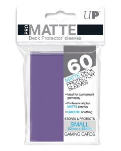 UP - Deck Protector Sleeves - PRO-Matte - Small Size (60) - Purple