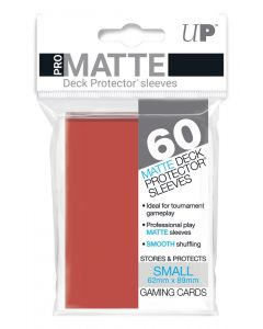 UP - Deck Protector Sleeves - PRO-Matte - Small Size (60) - Red