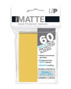 UP - Deck Protector Sleeves - PRO-Matte - Small Size (60) - Yellow