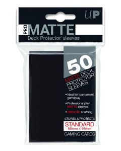 UP - Deck Protector Sleeves - PRO-Matte - Standard Size (50) - Black