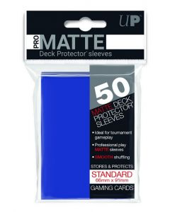 UP - Deck Protector Sleeves - PRO-Matte - Standard Size (50) - Blue