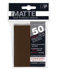 UP - Deck Protector Sleeves - PRO-Matte - Standard Size (50) - Brown