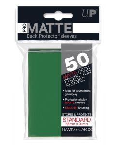 UP - Deck Protector Sleeves - PRO-Matte - Standard Size (50) - Green