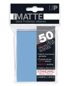 UP - Deck Protector Sleeves - PRO-Matte - Standard Size (50) - Light Blue