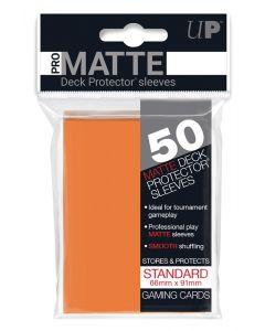 UP - Deck Protector Sleeves - PRO-Matte - Standard Size (50) - Orange