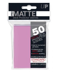 UP - Deck Protector Sleeves - PRO-Matte - Standard Size (50) - Pink