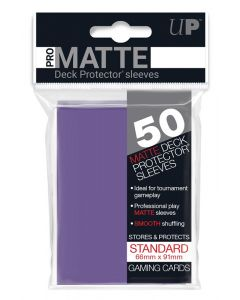 UP - Deck Protector Sleeves - PRO-Matte - Standard Size (50) - Purple