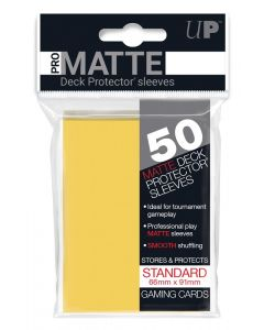 UP - Deck Protector Sleeves - PRO-Matte - Standard Size (50) - Yellow