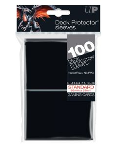 UP - Deck Protector Sleeves - Standard Size (100) - Black