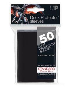UP - Deck Protector Sleeves - Standard Size (50) - Black