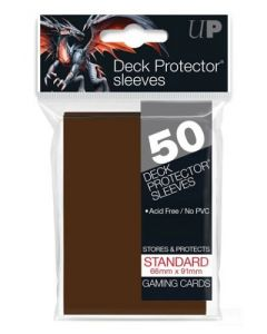 UP - Deck Protector Sleeves - Standard Size (50) - Brown