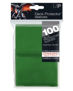UP - Deck Protector Sleeves - Standard Size (100) - Green