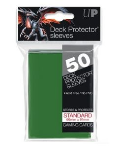 UP - Deck Protector Sleeves - Standard Size (50) - Green