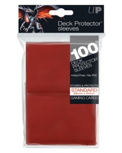 UP - Deck Protector Sleeves - Standard Size (100) - Red