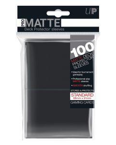 UP - Deck Protector Sleeves - PRO-Matte - Standard Size (100) - Black