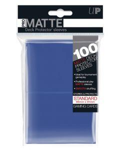UP - Deck Protector Sleeves - PRO-Matte - Standard Size (100) - Blue