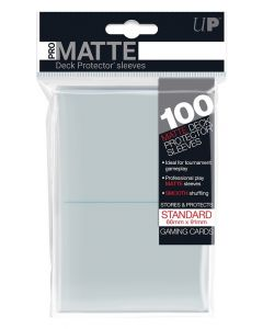 UP - Deck Protector Sleeves - PRO-Matte - Standard Size (100) - Clear