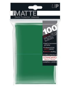 UP - Deck Protector Sleeves - PRO-Matte - Standard Size (100) - Green