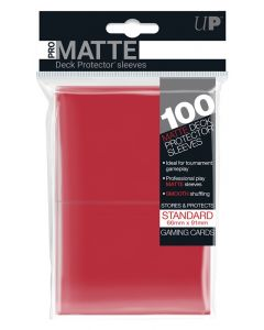 UP - Deck Protector Sleeves - PRO-Matte - Standard Size (100) - Red