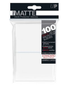 UP - Deck Protector Sleeves - PRO-Matte - Standard Size (100) - White