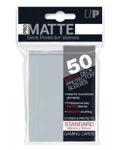 UP - Deck Protector Sleeves - PRO-Matte - Standard Size (50) - Clear