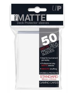 UP - Deck Protector Sleeves - PRO-Matte - Standard Size (50) - White