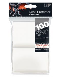 UP - Deck Protector Sleeves - Standard Size (100) - White