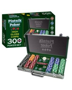 Piatnik Poker - 300 High Gloss Chips - Set