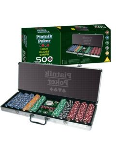 Piatnik Poker - 500 High Gloss Chips - Set