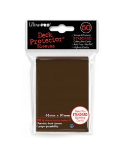 Deck Protector Sleeves - Standard Size (50) - Brown