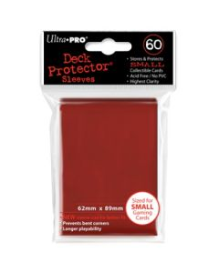 Deck Protector Sleeves - Small Size (60) - Red