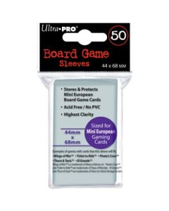 Board Game Sleeves - Mini European 44 x 68 mm (50)