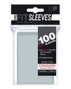 UP - Inner Sleeves - PRO-Fit Sleeves - Standard Size (100) - Clear