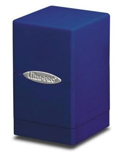 Satin Tower - Deck Box - Blue
