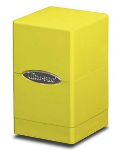 Satin Tower Deck Box - Bright Yellow