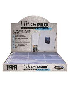 UP - Silver Series - 9 Pochettes à Cartes (100 Pages avec 11 Trous)
