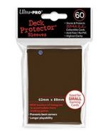 Deck Protector Sleeves - Small Size (60) - Brown