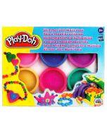 Play-Doh - 6 Pots de Couleurs Scintillantes